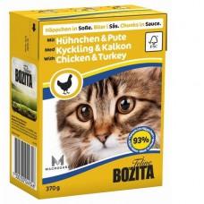 Bozita корм для кошек с курицей и индейкой в соусе