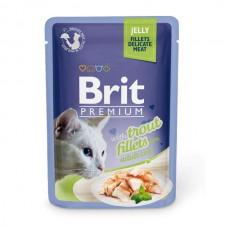 "Brit Premium корм для кошек ""Кусочки из филе форели в желе"""