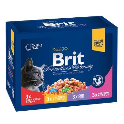 """Brit Premium консервы для кошек """"Ассорти"""""""