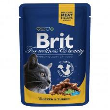 "Brit Premium корм для кошек ""Курица и индейка"""