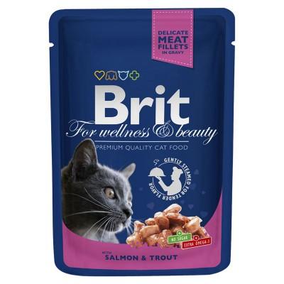 """Brit Premium корм для кошек """"Лосось и форель"""""""