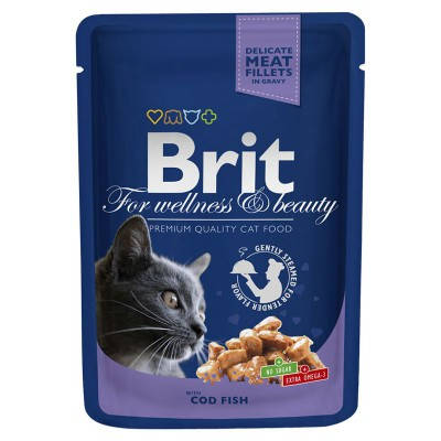 """Brit Premium консервы для кошек """"Треска"""""""