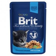 "Brit Premium корм для котят ""Кусочки с курочкой"""