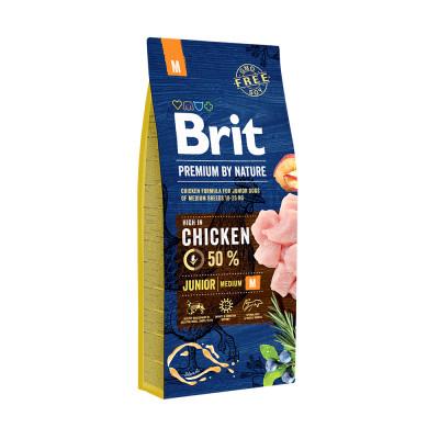 Корм Brit Premium by Nature для щенков средних пород Junior M