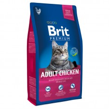 Корм Brit Premium для взрослых кошек c курицей