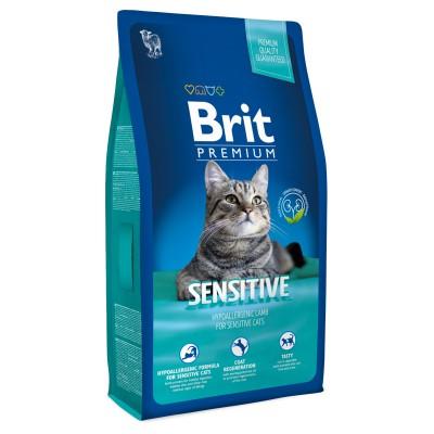 Корм Brit Premium для кошек с чувствительным пищеварением с ягнёнком