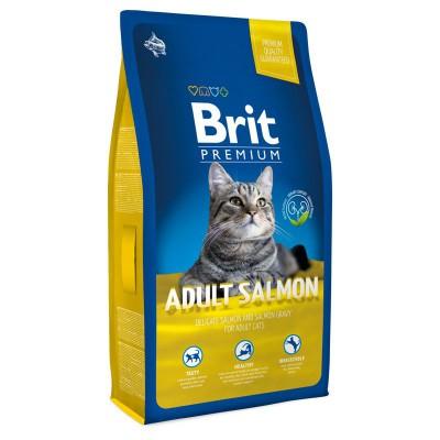 Корм Brit Premium для кошек с лососем в соусе