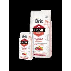 Корм Brit Fresh для щенков крупных пород с говядиной и тыквой