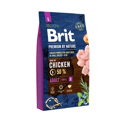 Корм Brit Premium by Nature для собак мелких пород Adult S