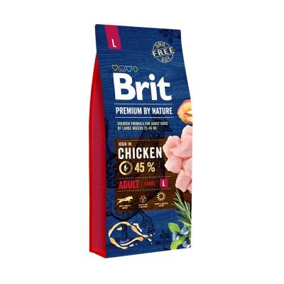 Корм Brit Premium by Nature для собак крупных пород Adult L