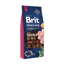 Корм Brit Premium by Nature для щенков крупных пород Junior L