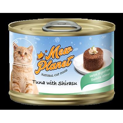 Консервы Mew Planet для кошек паштет из красного тунца с ширасу