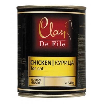Clan De File консервы для кошек с курицей