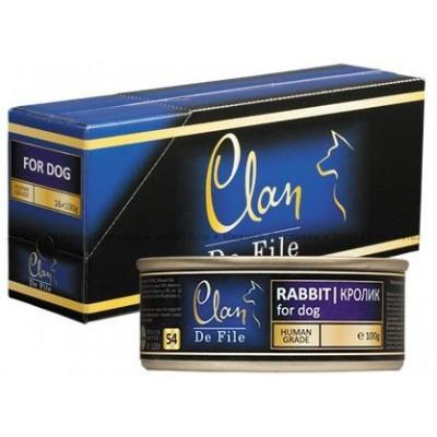 """Clan De File консервы для собак """"С кроликом"""""""