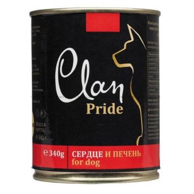 """Clan Pride консервы для собак """"С говяжьим сердцем и печенью"""""""