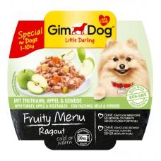 Корм Gimdog Frutty для собак рагу с индейкой, яблоком и овощами