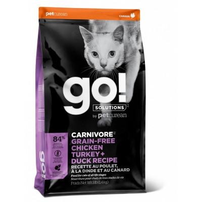 """Корм GO! Natural Holistic для котят и кошек - """"4 вида мяса: курица, индейка, утка и лосось"""""""