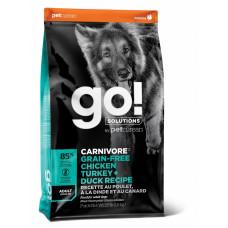 Корм GO! для собак 4 вида мяса: индейка, курица, лосось, утка