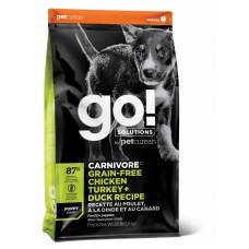 Корм GO! для щенков 4 вида мяса: индейка, курица, лосось, утка
