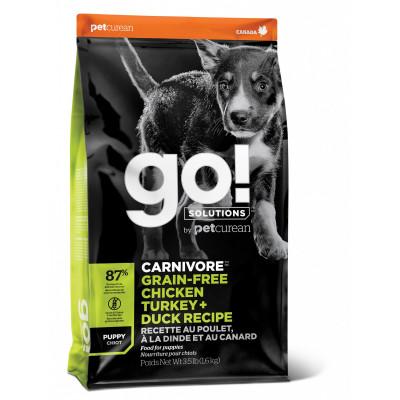 Корм GO! беззерновой для щенков 4 вида мяса: индейка, курица, лосось, утка