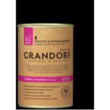 Консервы Grandorf для собак буйвол и телятина