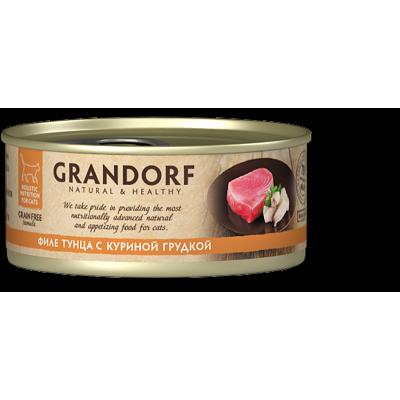 Консервы Grandorf для кошек филе тунца с куриной грудкой