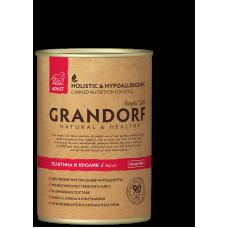 Консервы Grandorf для собак телятина и кролик