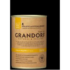 Консервы Grandorf для собак утка и индейка