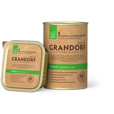 Консервы Grandorf для собак с ягнёнком