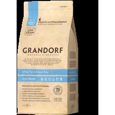 Корм Grandorf для кошек с белой рыбой и коричневым рисом