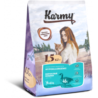 Корм Karmy для кошек гипоаллергенный с уткой