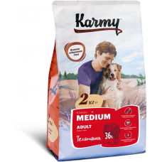 Корм Karmy Medium Adult для собак средних пород, телятина