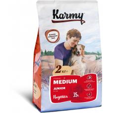 Корм Karmy Medium Junior для щенков средних пород, индейка