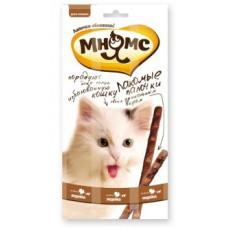 Мнямс лакомство для кошек палочки с индейкой и ягненком