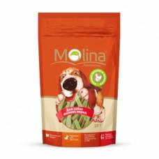 """Molina лакомство для собак мелких пород """"Куриные полоски со шпинатом"""""""