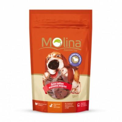 """Molina лакомство для собак мелких пород """"Медальоны из ягненка"""""""