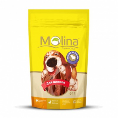 "Molina лакомство для щенков ""Нарезка из ягненка"""