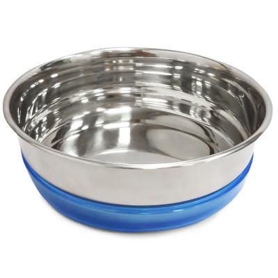 Миска металлическая с синей резинкой, 0,49 л
