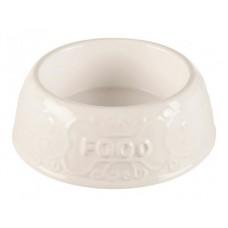 Миска керамическая белая Food 0.3 л