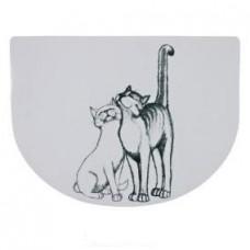 "Коврик под миску для кошек ""Кошечка"", 40х30см."