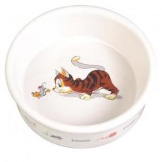 Миска керамическая для кошек 0.2 л.