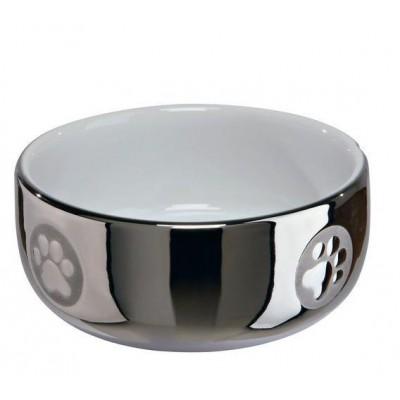Миска керамическая серебряная 0.3 л