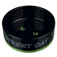 """Миска для кошек керамическая """"Street Cat"""" 0.3 л"""