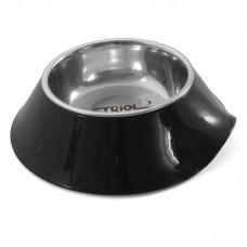 Миска на чёрной пластиковой подставке 0.2 л