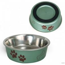 Миска для собак металлическая с лапками 0.24 л
