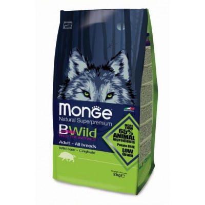 Корм Monge BWild Dog Boar для собак с мясом дикого кабана