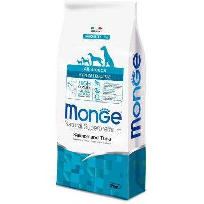 Корм Monge Dog гипоаллергенный для собак с лососем и тунцом