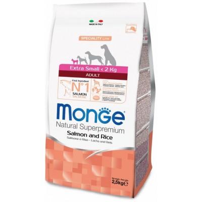 Корм Monge Dog Extra Small для собак миниатюрных пород с лососем и рисом