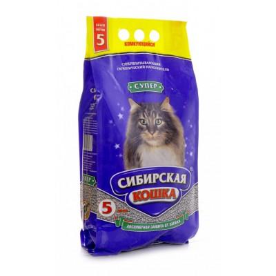 Наполнитель комкующийся Сибирская кошка, Супер