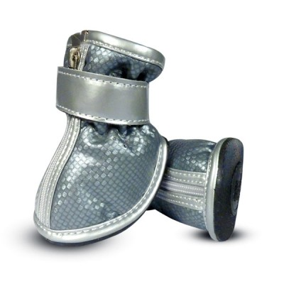 """Обувь для собак """"Ботинки серебряные"""", размер 1"""